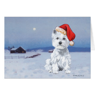 West Highland White Terrier Christmas Greeting Card