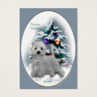 West Highland White Terrier Christmas Gifts Business Card