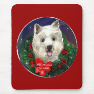 West Highland White Terrier Christmas Gifts Mouse Pad