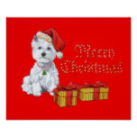 West Highland White Terrier Christmas Gifts Poster