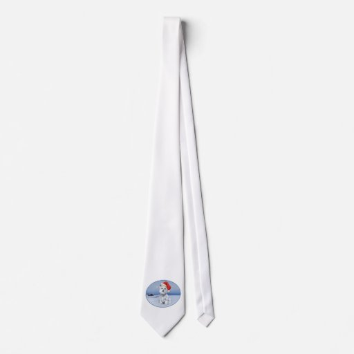 West Highland White Terrier Christmas Tie