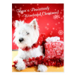 West Highland White Terrier Christmas Wishes Post Cards