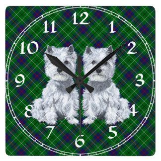West Highland White Terrier Clock