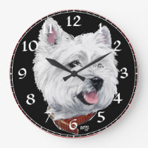 West Highland White Terrier Clock