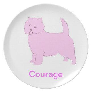 West Highland White Terrier Courage Cancer Awarene Dinner Plate