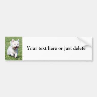 West Highland White Terrier cute photo custom Car Bumper Sticker