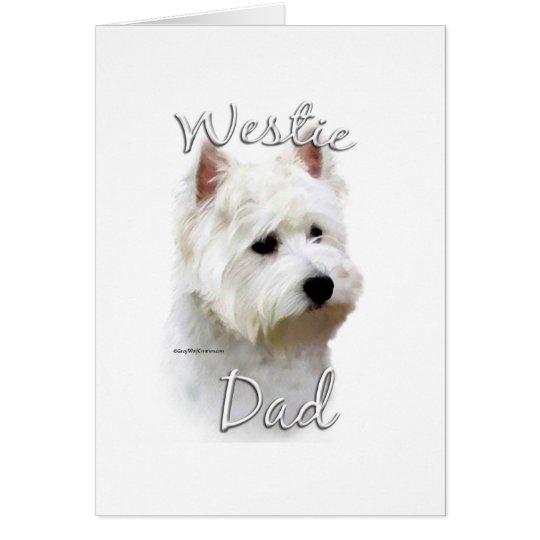 West Highland White Terrier Dad 2 Card