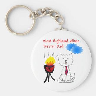 West Highland White Terrier Dad Keychain
