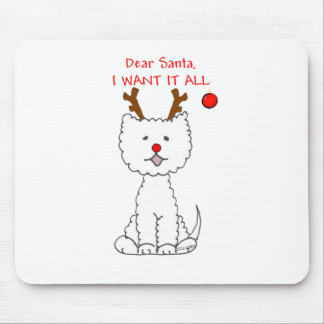 West Highland White Terrier Dear Santa Mouse Pad