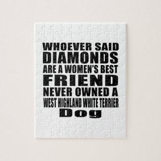 WEST HIGHLAND WHITE TERRIER DOG BEST FRIEND DESIGN JIGSAW PUZZLE