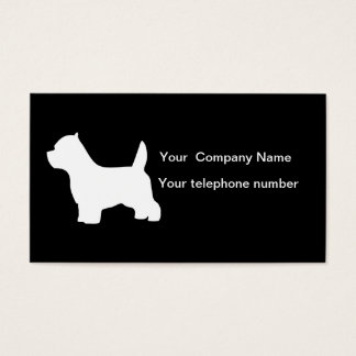 West Highland White Terrier dog business card