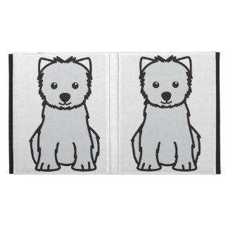 West Highland White Terrier Dog Cartoon iPad Folio Case