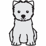 West Highland White Terrier Dog Cartoon Cut Outs
