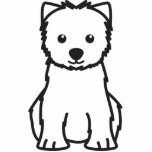 West Highland White Terrier Dog Cartoon Acrylic Cut Outs