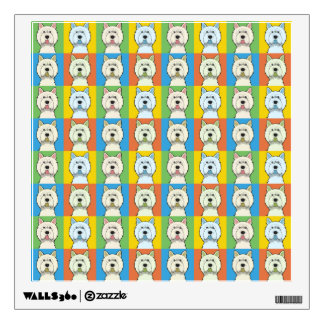 West Highland White Terrier Dog Cartoon Pop-Art Wall Sticker