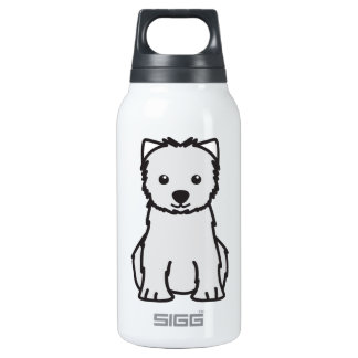 West Highland White Terrier Dog Cartoon SIGG Thermo 0.3L Insulated Bottle