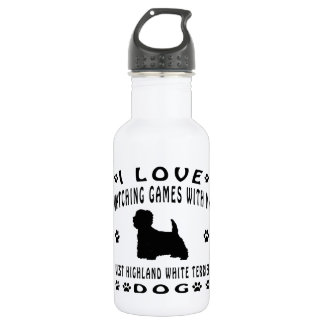 West Highland White Terrier Dog Design 18oz Water Bottle