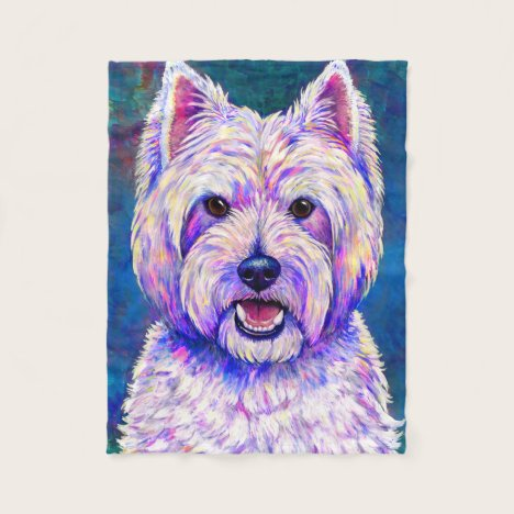 West Highland White Terrier Dog Fleece Blanket