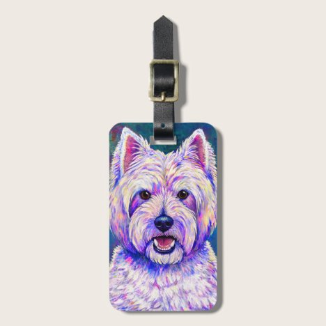West Highland White Terrier Dog Luggage Tag
