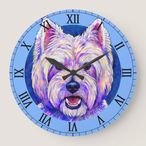 West Highland White Terrier Dog Wall Clock