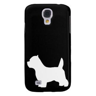 West Highland White Terrier dog, westie silhouette Galaxy S4 Cases