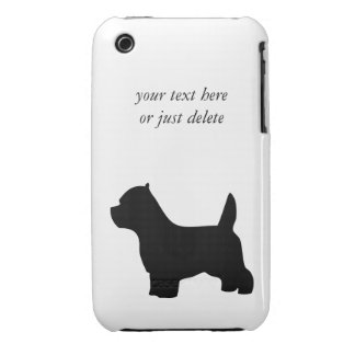 West Highland White Terrier dog, westie silhouette Case-Mate iPhone 3 Cases