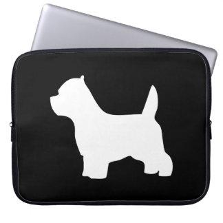 West Highland White Terrier dog, westie silhouette Computer Sleeves