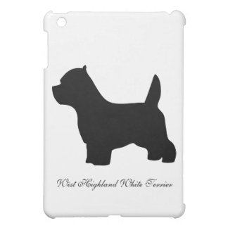 West Highland White Terrier dog, westie silhouette Case For The iPad Mini