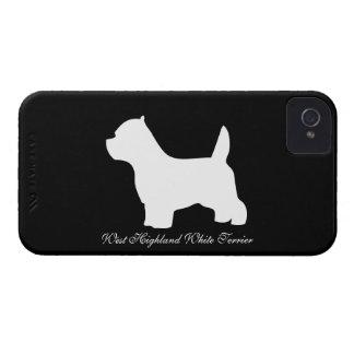 West Highland White Terrier dog, westie silhouette iPhone 4 Case