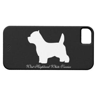 West Highland White Terrier dog, westie silhouette iPhone SE/5/5s Case