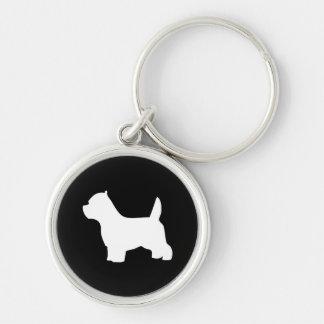 West Highland White Terrier dog, westie silhouette Keychain