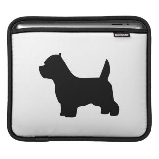 West Highland White Terrier dog, westie silhouette Sleeve For iPads