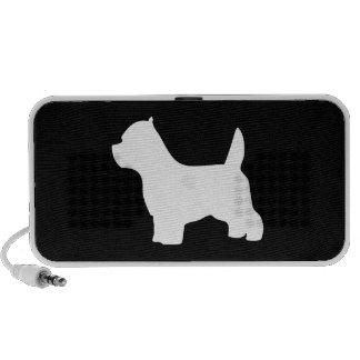West Highland White Terrier dog, westie silhouette Travel Speaker