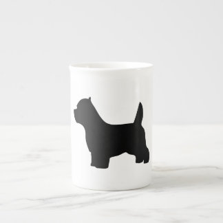 West Highland White Terrier dog, westie silhouette Tea Cup