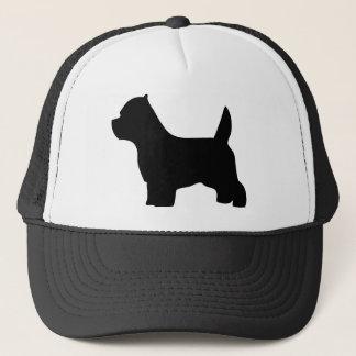 West Highland White Terrier dog, westie silhouette Trucker Hat
