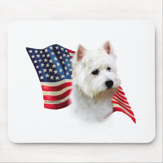 West Highland White Terrier Flag Mouse Pad