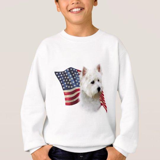 West Highland White Terrier Flag Sweatshirt