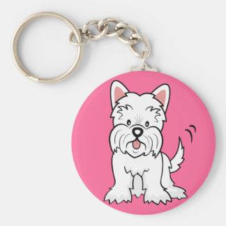 West Highland White Terrier Gifts and Merchandise Basic Round Button Keychain