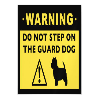 West Highland White Terrier Guard Dog Warning Magnetic Card