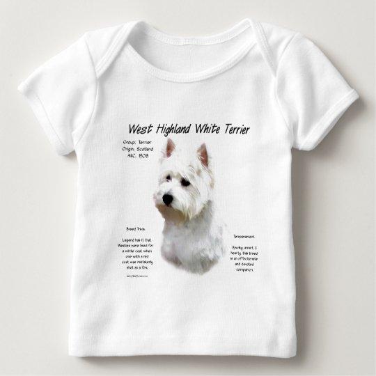 West Highland White Terrier History Design Baby T-Shirt