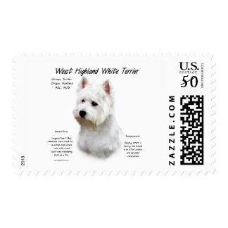 West Highland White Terrier History Design Postage