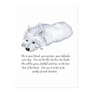 West Highland White Terrier Keepsake Postcard
