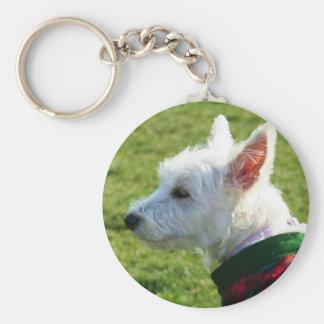 West Highland White Terrier keychain
