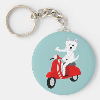 West Highland White Terrier  Basic Round Button Keychain