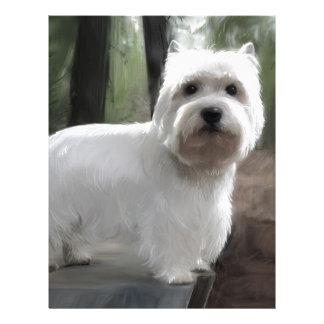 West Highland White Terrier Letterhead Template