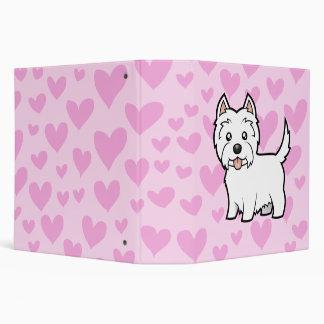 West Highland White Terrier Love 3 Ring Binder