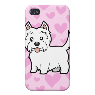 West Highland White Terrier Love (add a pern) Cover For iPhone 4