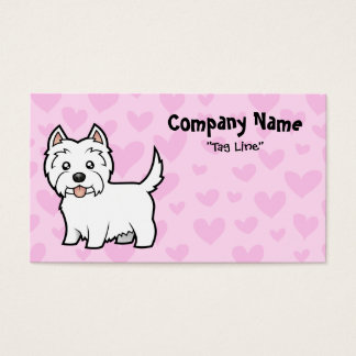 West Highland White Terrier Love Business Card