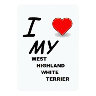 west highland white terrier love card
