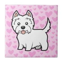 West Highland White Terrier Love Ceramic Tile